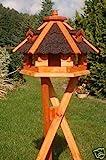 Deko-Shop-Hannusch Vogelhäuschen, Vogelhaus mit Bitumschindeln, behandelt mit Ständer,...